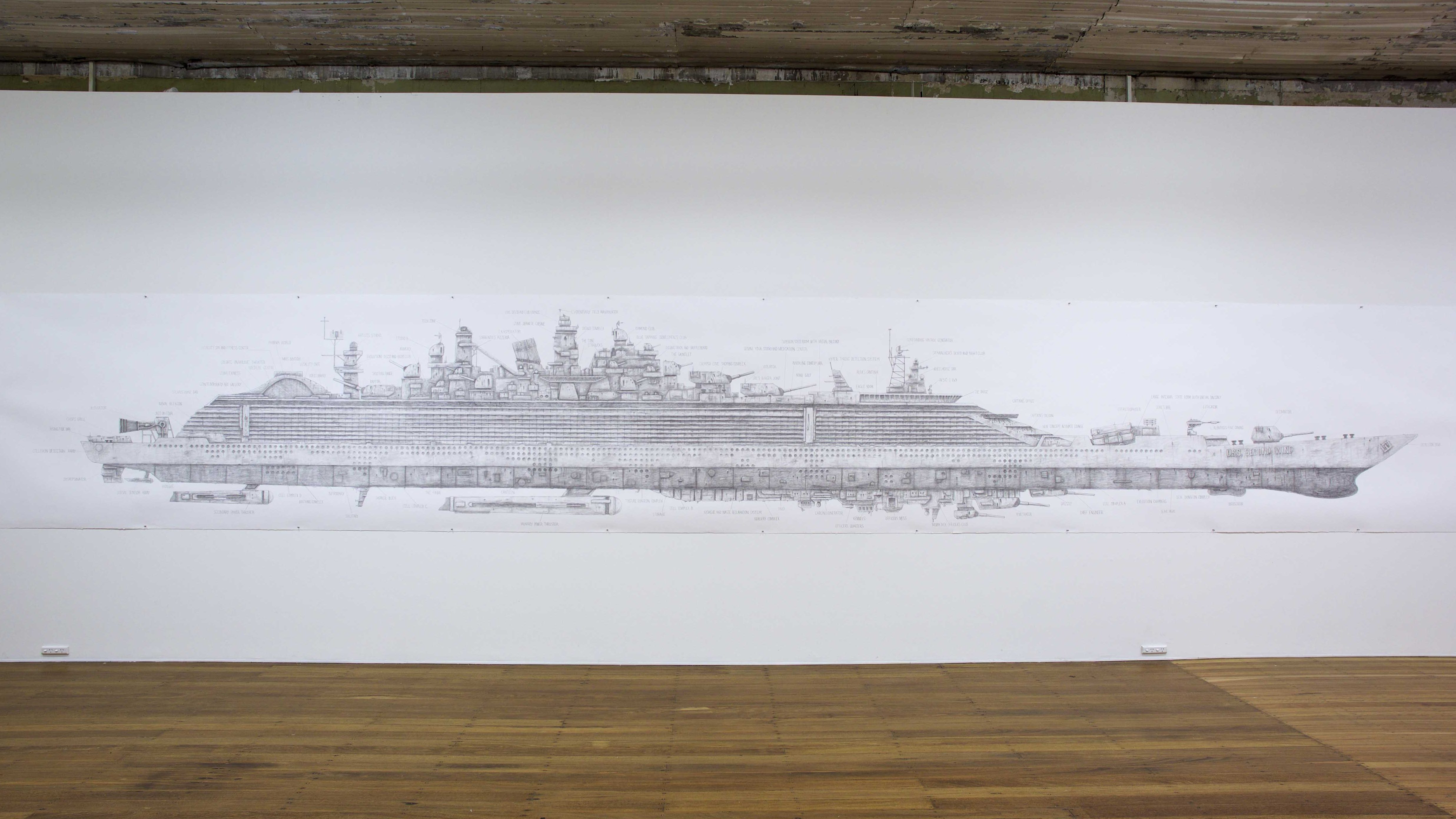 THE END IS ENDLESS, Drawing, 9 X1.4M